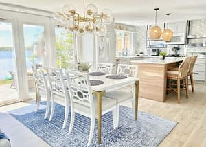 Cottages of Cape Cod Lakeshore Cottage with Williams-Sonoma Chandelier