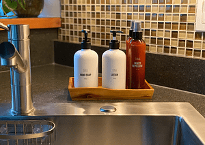 Public Goods insect repellant, hand soap and dishsoap the Windfall Juneau Alaska